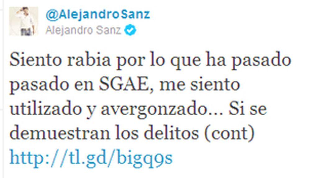 """Sanz ha reconocido que """"el canon debe ser revisado sin duda, pero tambien la criminalización indiscriminada y sin fundamento de los socios de SGAE""""."""