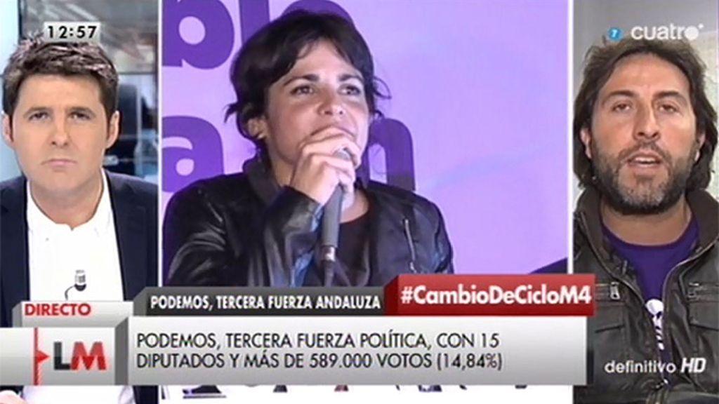 """Jesús Rodríguez (Podemos): """"Si alguien impulsa rescatar a la gente, apoyaríamos esas medidas"""""""