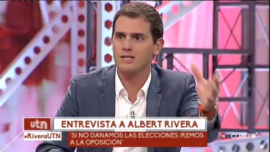 """Albert Rivera, en 'Un tiempo nuevo': """"El politiqueo me cansa profundamente"""""""