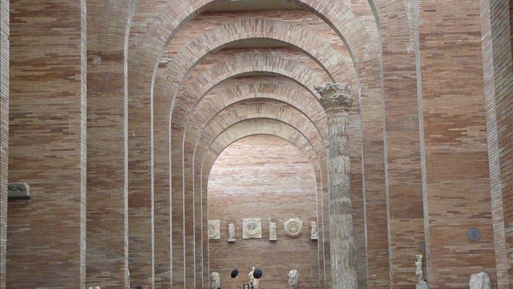 Una de las salas o espacios diáfanos del museo de Arte Romano de Mérida. EFE/Archivo