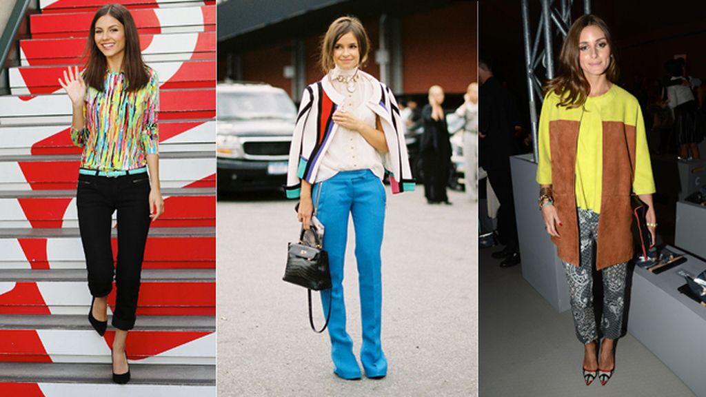 Las más fashion se atreven con la mezcla de colores vivos