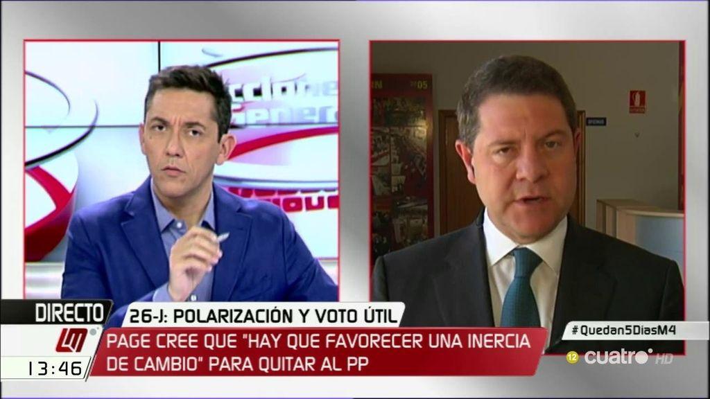 """García-Page responde a Iglesias: """"Hace dos meses decía que Susana Díaz o yo éramos de la parte no sensata del PSOE"""""""