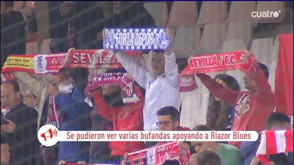 Biris Norte no animó al Sevilla ante el Sabadell como homenaje a los Riazor Blues