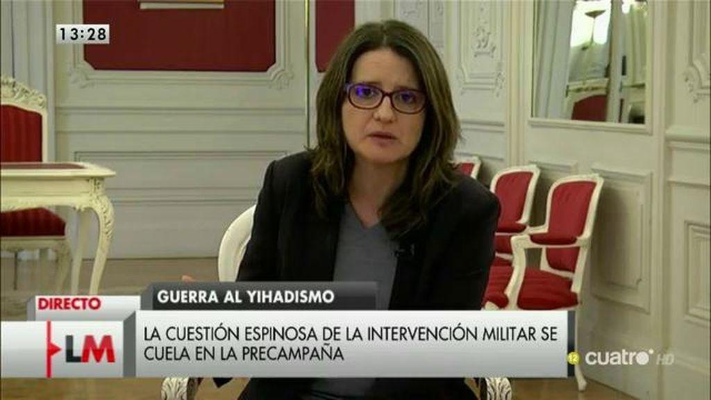 """Mónica Oltra: """"Todavía tenemos un Gobierno de España instalado en el abuso de poder"""""""