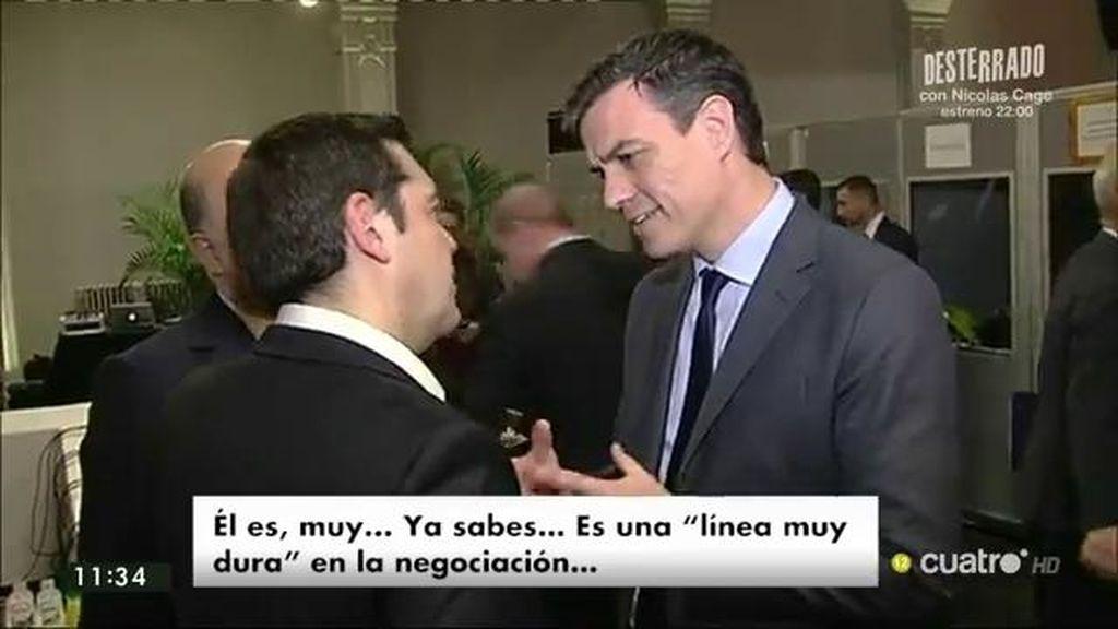 Sánchez pide a Tsipras que medie ante Iglesias para que facilite su investidura