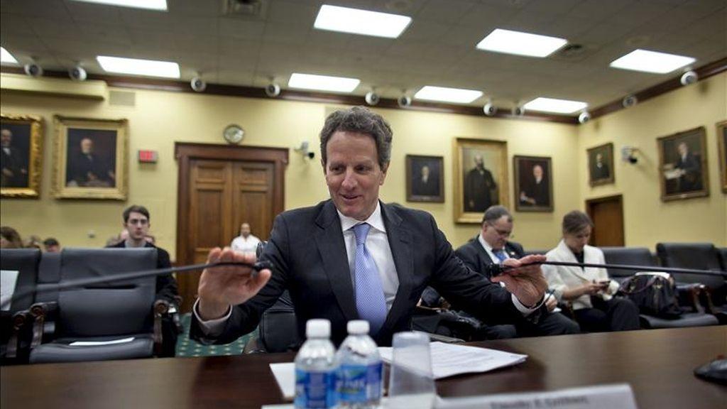 En la imagen, el secretario del Tesoro de EE.UU., Timothy Geithner. EFE/Archivo