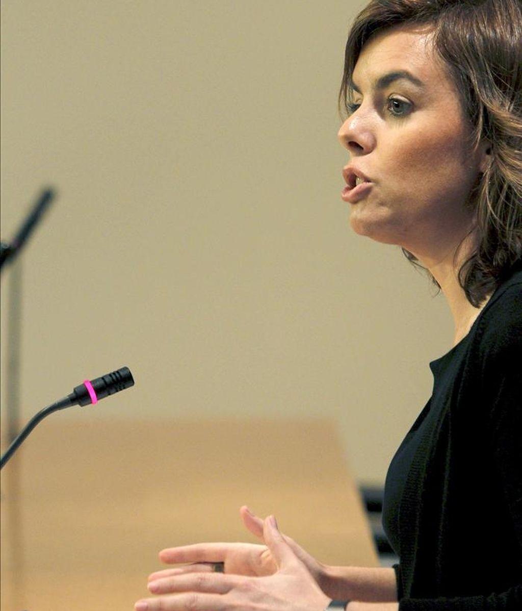En la imagen, la portavoz del PP en el Congreso, Soraya Sáenz de Santamaría. EFE/Archivo