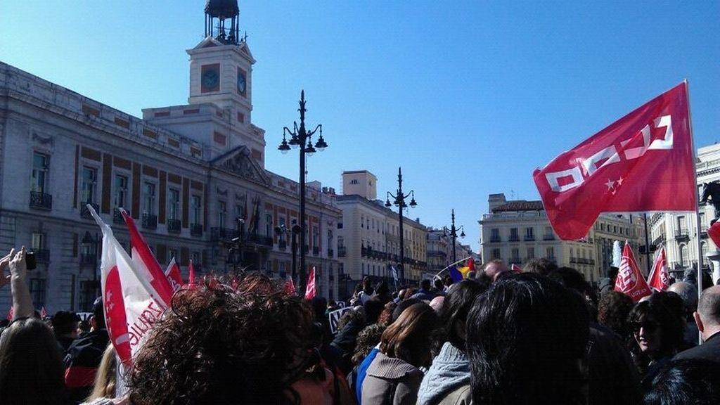 Manifestación en Madrid, Puerta del Sol