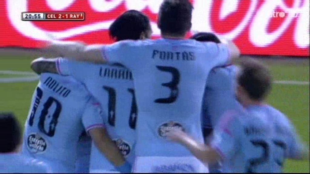 Santi Mina adelanta al Celta de Vigo en el marcador y ruge Balaídos (2-1)