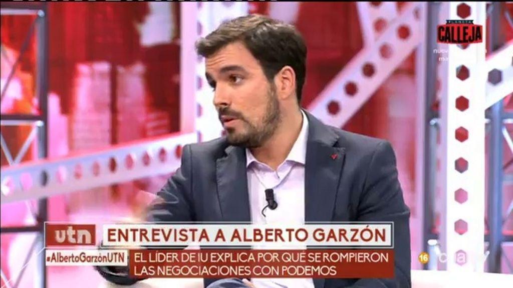 """Alberto Garzón: """"Nunca nos encontrarán votando a favor de la monarquía"""""""