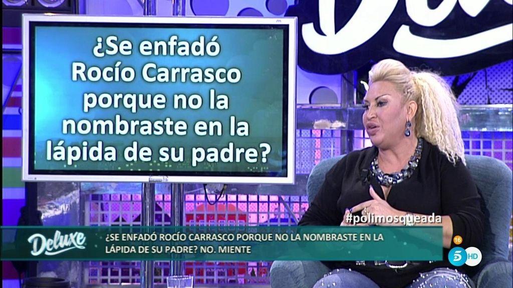 """Raquel Mosquera: """"Rocío se enfadó porque no puse su nombre en la lápida de su padre"""""""