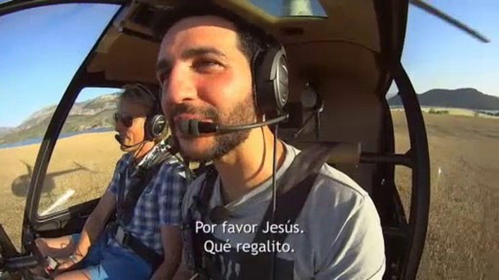 Fran Perea disfruta de su tierra por todo lo alto con Jesús Calleja
