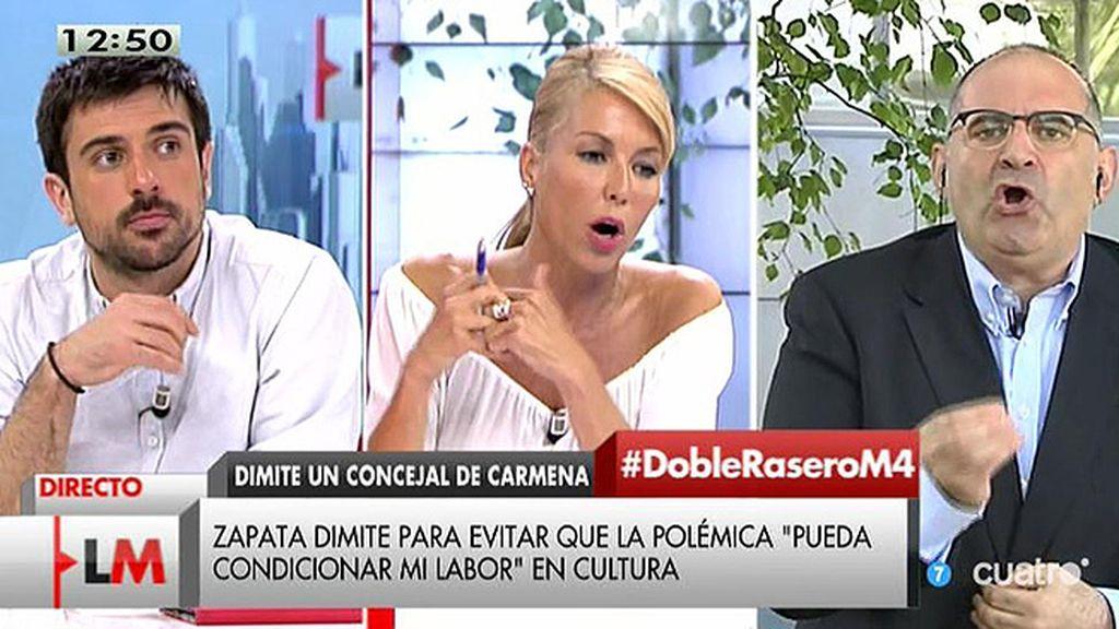 """Antón Losada: """"El error de Zapata ha sido dimitir pero si dimites, dimite al 100%"""""""