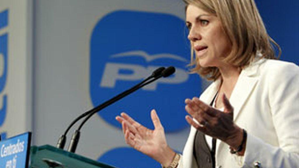 María Dolores de Cospedal, secretaria General del PP. Foto: EFE