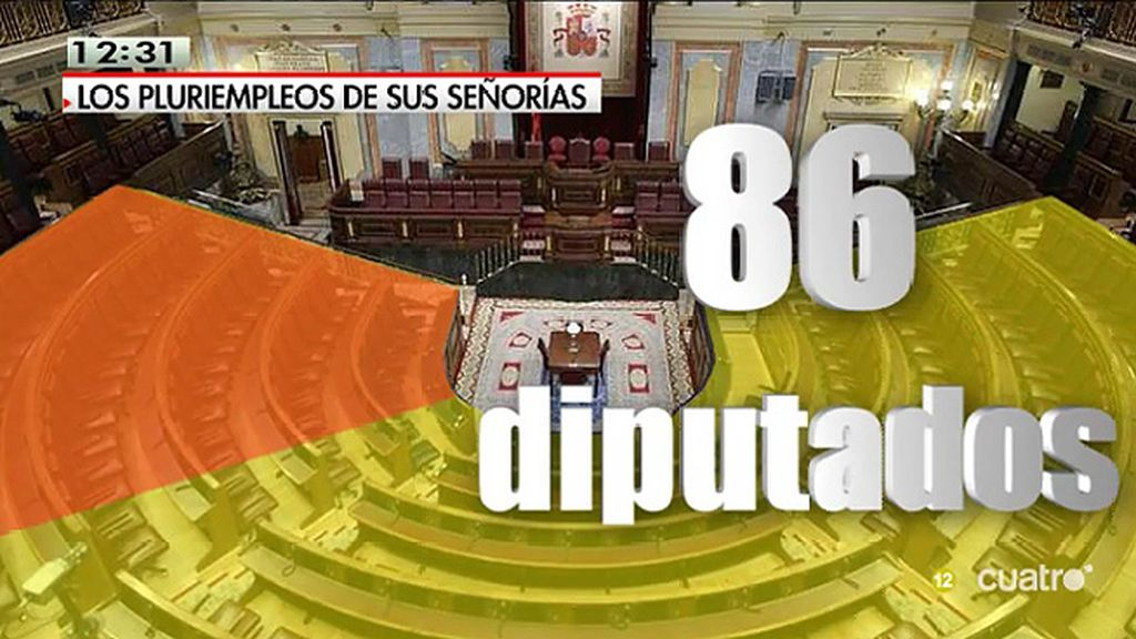 86 diputados cobran también por otros trabajos privados