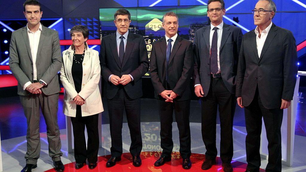 Debate electoral de todas las fuerzas políticas en el País Vasco