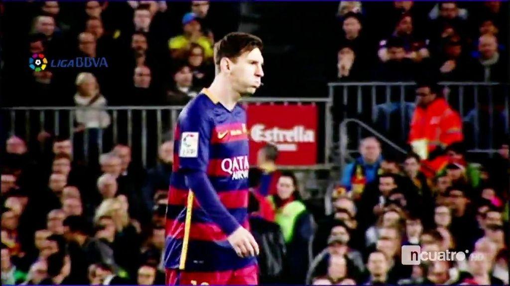 Otra vez problemas físicos para Messi sobre el campo
