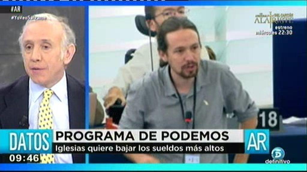 "Eduardo Inda: ""¿Va a reducirse Pablo Iglesias también sus 21.000 euros mensuales?"""