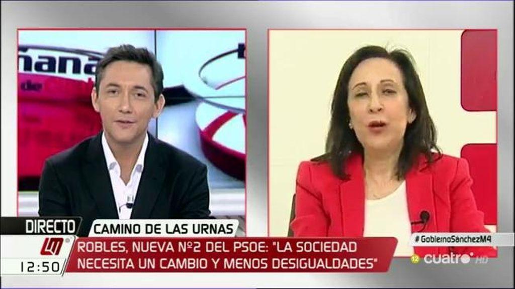 """Margarita Robles, número 2 del PSOE por Madrid: """"No soy un fichaje estrella"""""""