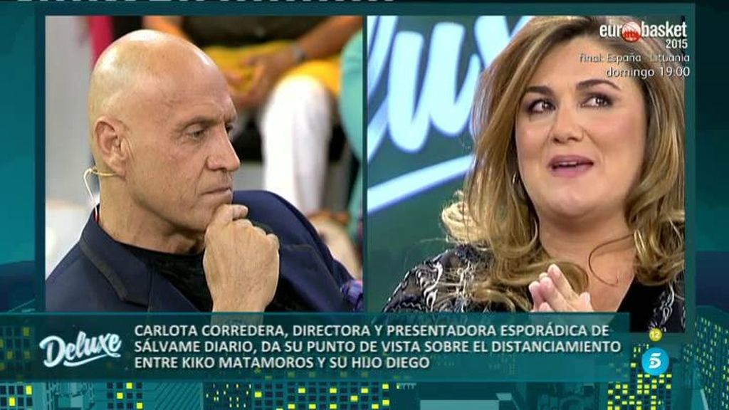 Carlota Corredera se emociona al hablar del distanciamiento de Matamoros y su hijo