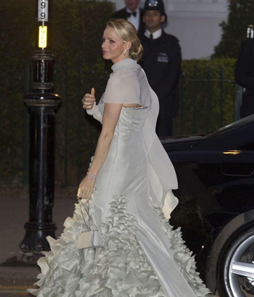 En la fiesta previa a la boda del príncipe Guillermo