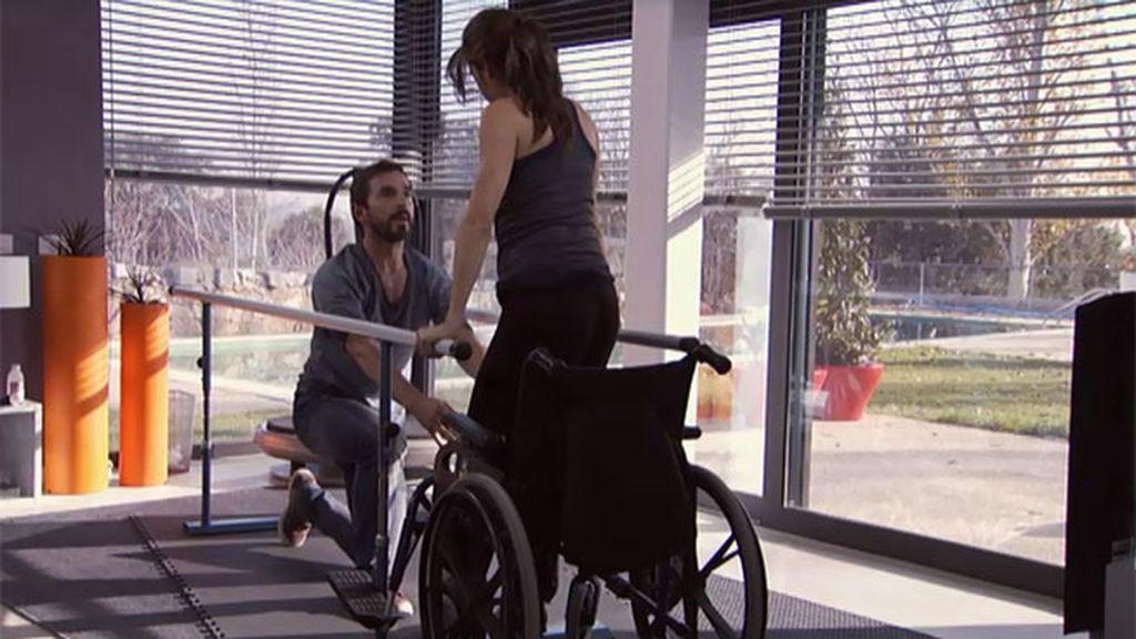 Teresa se quedó en silla de ruedas tras un accidente