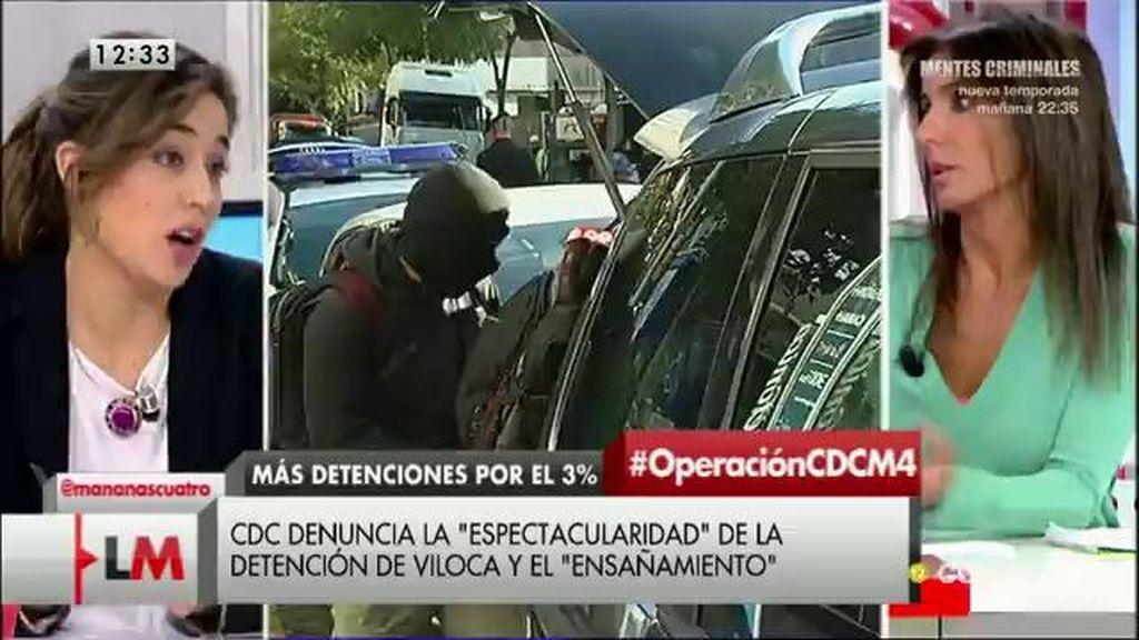 Lara Hernández, de Izquierda Unida, opina sobre la detención de Andreu Viloca