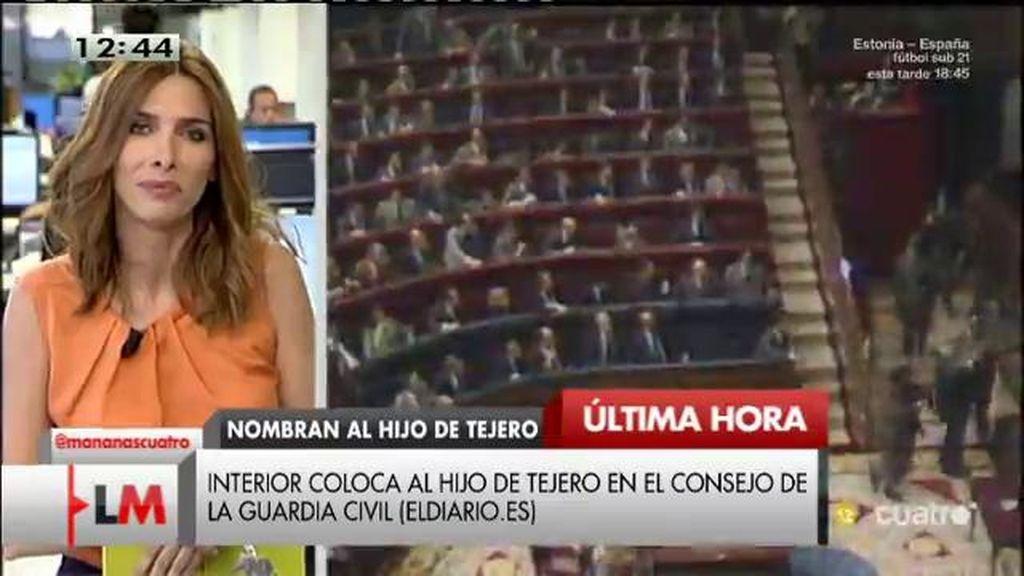 El hijo de Tejero, colocado en el Consejo de la Guardia Civil, según Eldiario.es