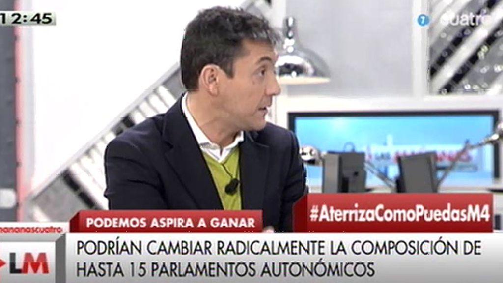 """Javier Ruiz: """"Que el dinero tiene miedo a Podemos es un hecho"""""""
