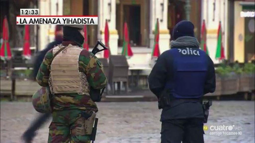 Bruselas seguirá en estado de alerta al menos hasta el lunes