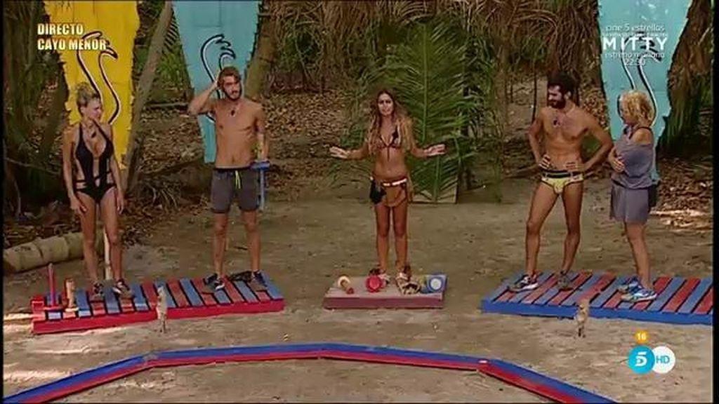 Jorge vence en la prueba de recompensa y se lleva un masaje