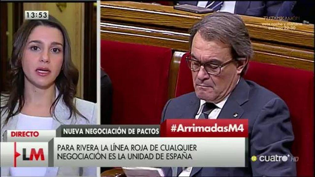 La entrevista a I. Arrimadas, a la carta