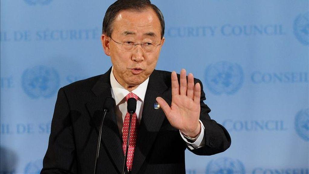 """El secretario general de la ONU, Ban Ki-moon, afirmó: """"La única manera de honrar verdaderamente la memoria de quienes perecieron en Ruanda hace 17 años es asegurarnos de que acontecimientos como aquellos no ocurren nunca más"""". EFE/Archivo"""