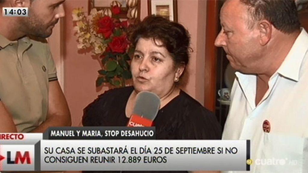 Un matrimonio pide ayuda para paralizar la subasta de su vivienda: deben 12.889 euros