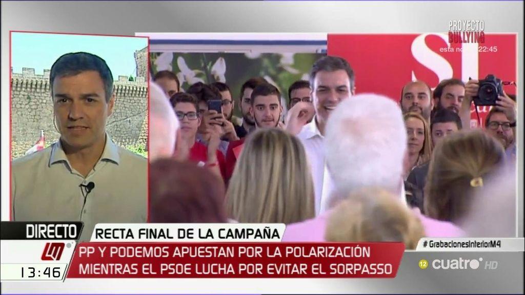 """Sánchez: """"No podemos cambiar un problema y resolverlo con otro, el PSOE es la solución"""""""