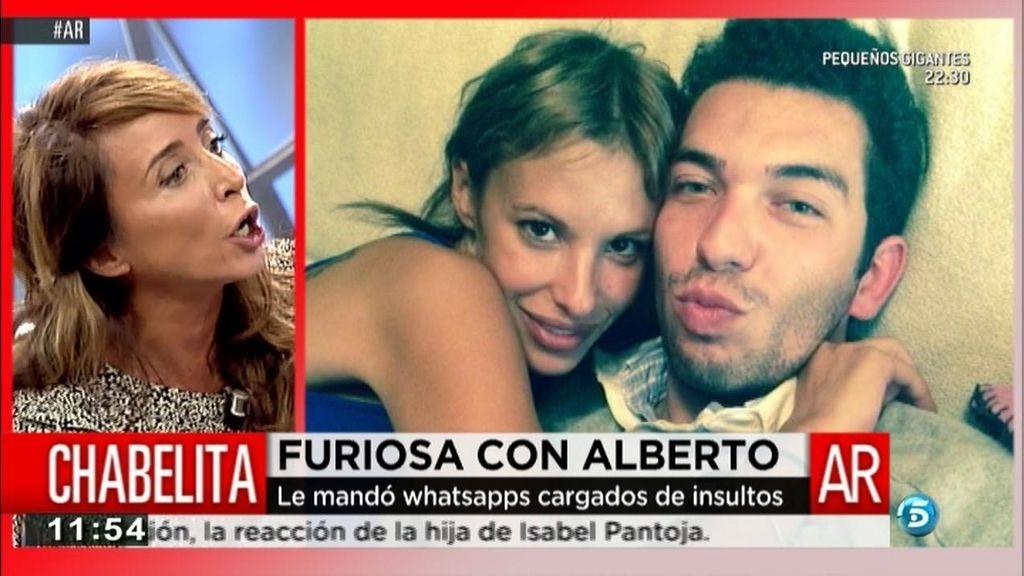 """María Patiño: """"Chabelita acusa a Alberto Isla de maltrato a través de WhatsApp"""""""