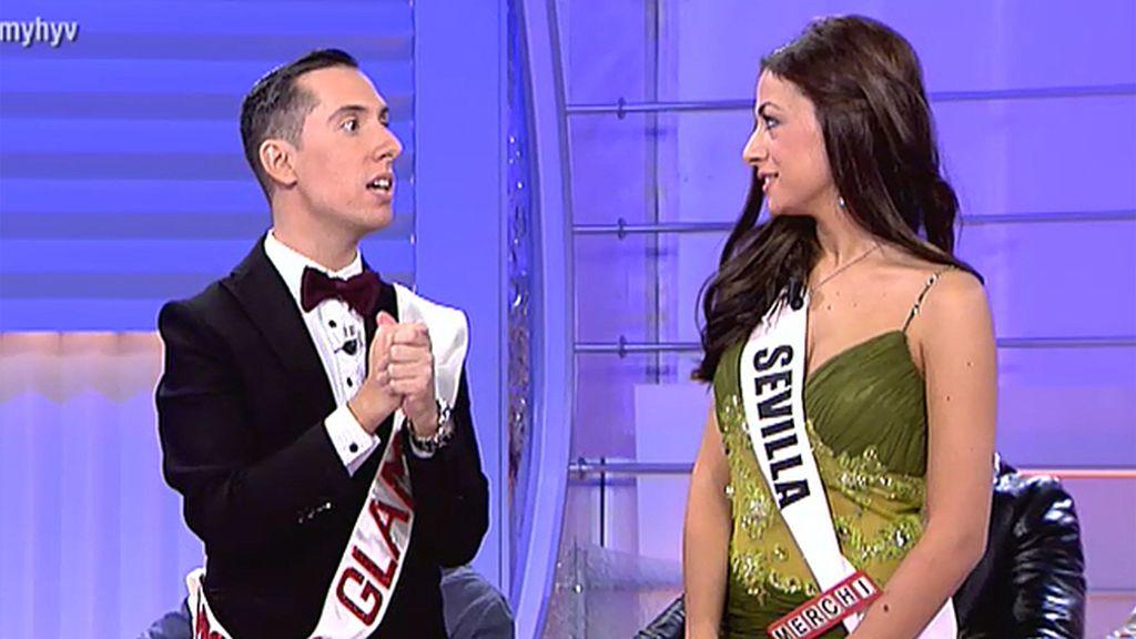 Merchi, una Miss Sevilla muy recargada
