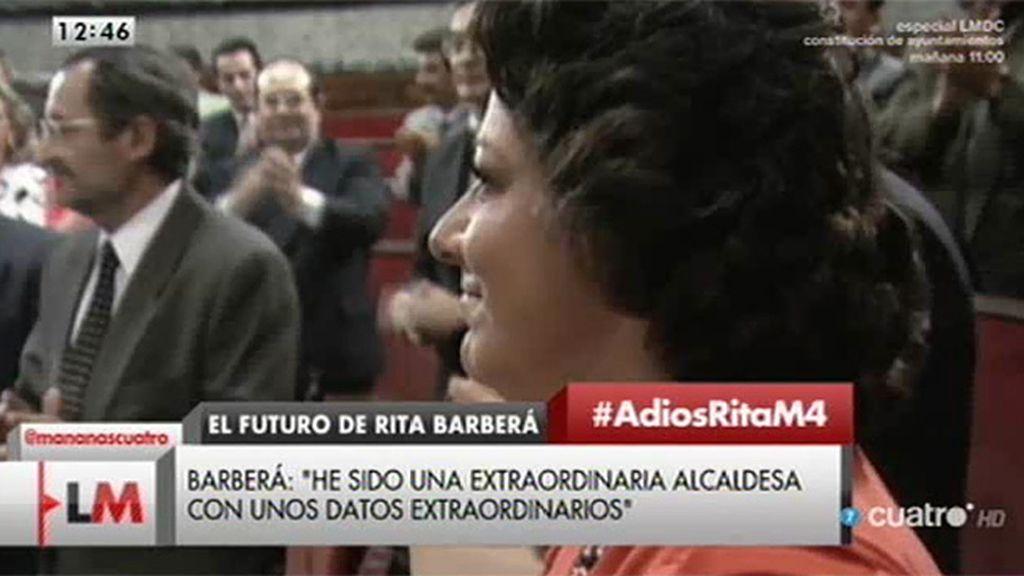 Así recibió Rita Barberá recibió el bastón de mando
