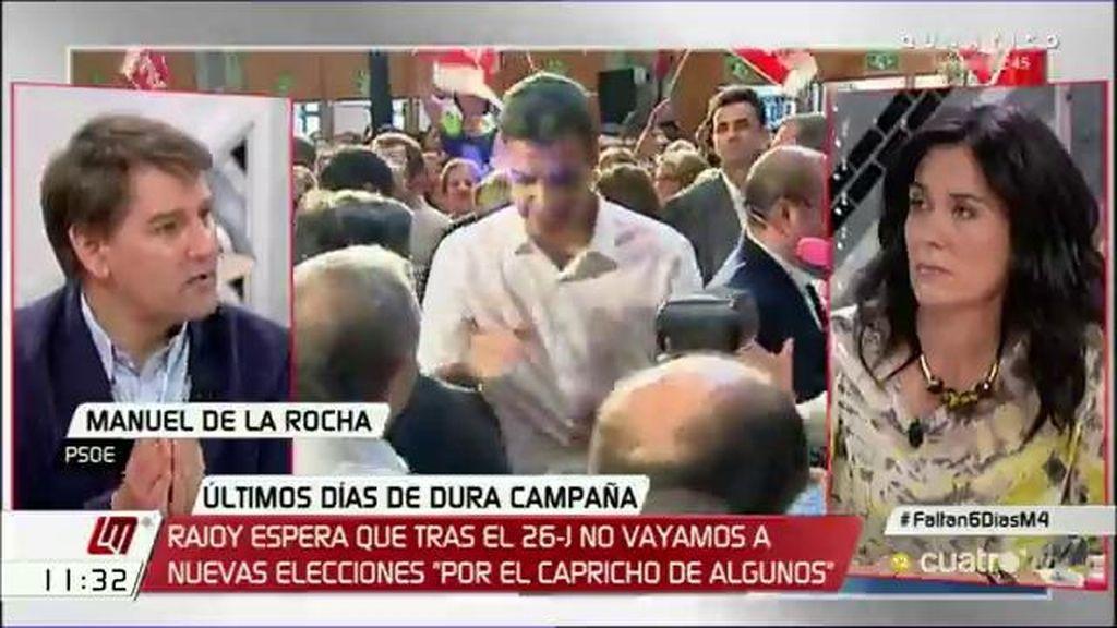 """Manuel de la Rocha (PSOE): """"Si hubiéramos querido llegar al Gobierno a cualquier precio, ya estaríamos"""""""