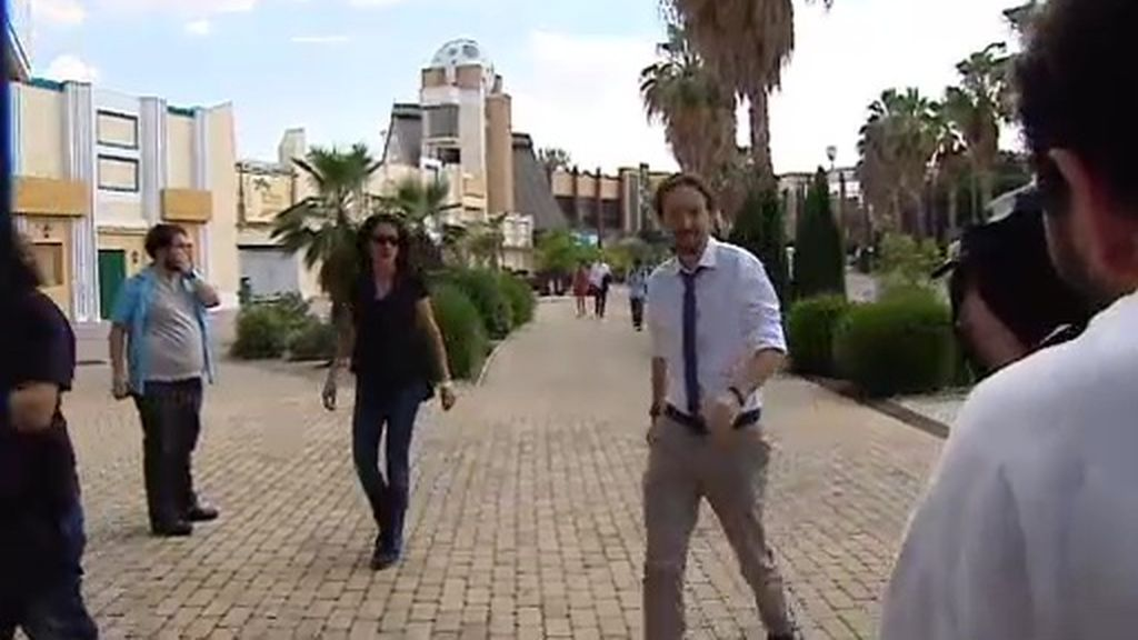 """Pablo Iglesias, """"optimista"""" a su llegada a la sede electoral de Unidos Podemos"""