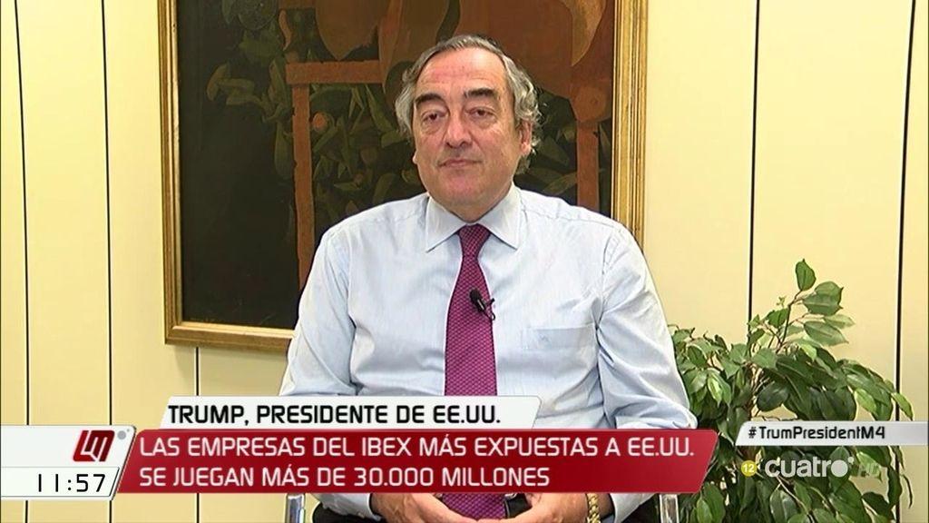 Joan Rosell no ve problemas económicos para España tras la elección de Trump