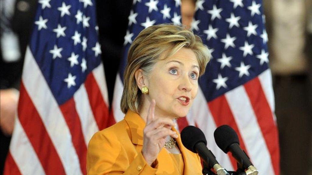 El discurso de Clinton en el Departamento de Estado pone fin a una serie de cuidadosos preparativos, por parte del Gobierno estadounidense, a una visita a la que concede una extrema importancia. EFE/Archivo