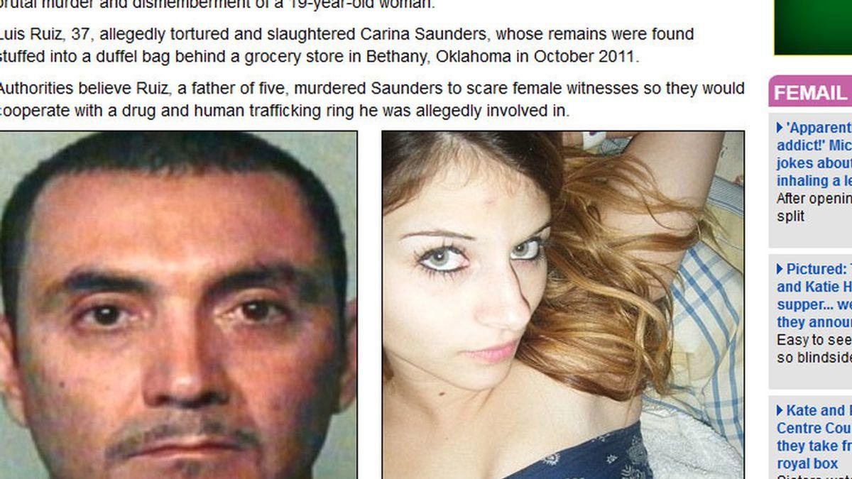 Asesinó y descuartizó a Carina