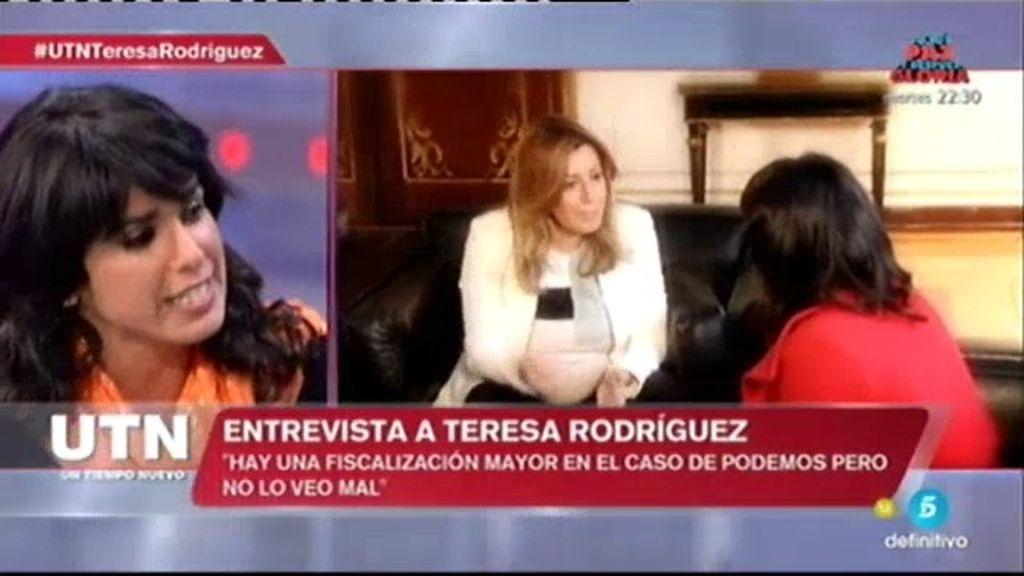 """Teresa Rodríguez: """"Queremos que las conversaciones con el PSOE sean públicas"""""""