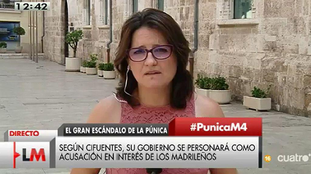"""Oltra, del gobierno de Cifuentes: """"Que se persone como acusación entiendo que obedece a favorecer los intereses del PP"""""""