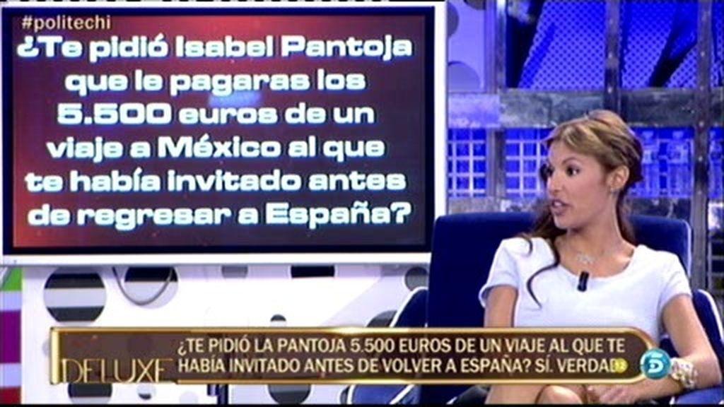 El polígrafo confirma que Isabel Pantoja pidió 5.500 euros a Techi en México