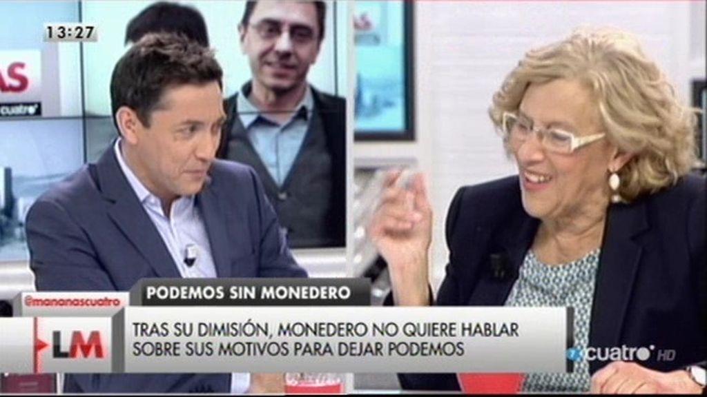 """Manuela Carmena: """"Yo no soy de Podemos, soy de 'Ahora Madrid"""""""