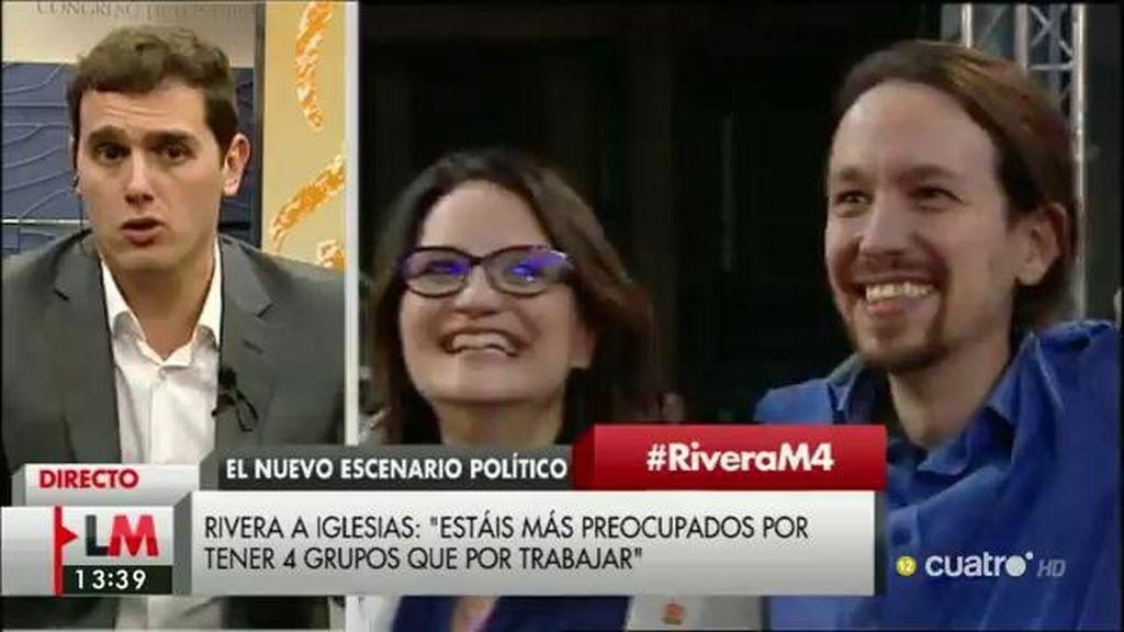 """Albert Rivera: """"Estamos esperando que PP y PSOE dejen de pelearse y sean responsables"""""""