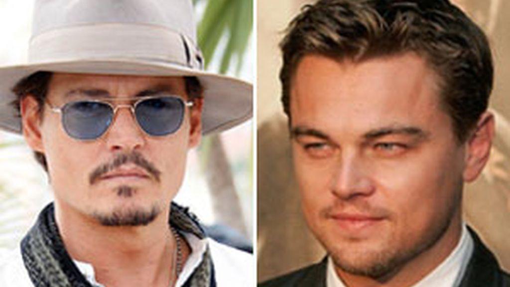 Johnny Depp y Leonardo DiCaprio. Foto: GTres/AP