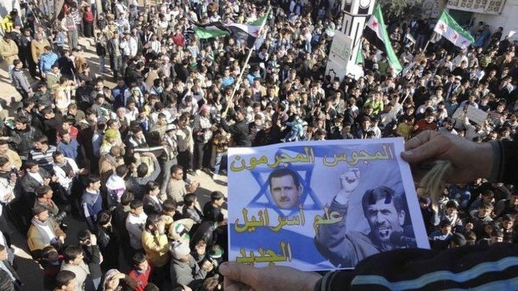 Cientos de personas se manifiestan en Siria